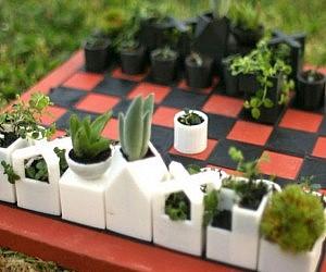 Micro Planters Chess Set