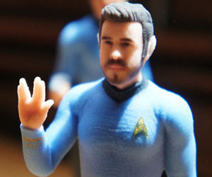 3D Printed Star Trek Action Figures