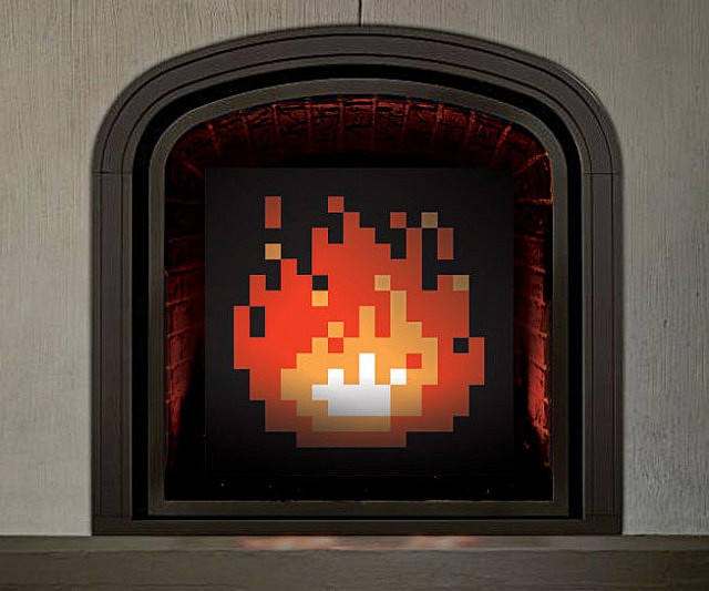 8-bit-fireplace-art