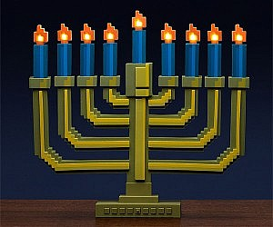 8-Bit Light-Up Menorah