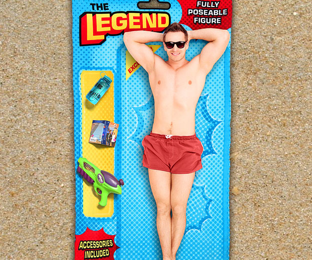 Action Figure Beach Towel