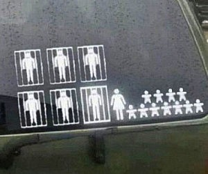 Incarcerated Baby Daddy Family Decals