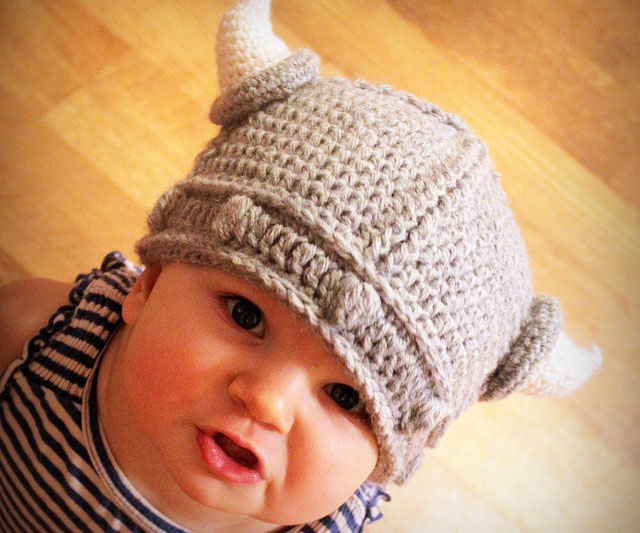 Baby Knitted Viking Hat Baby Viking Hat