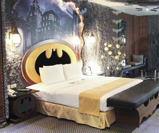 Batman Themed Hotel Room