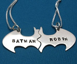 Batman And Robin BFF Necklace