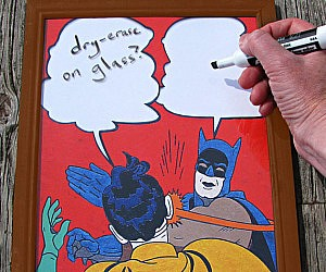 Batman Slap Meme Dry Erase Board