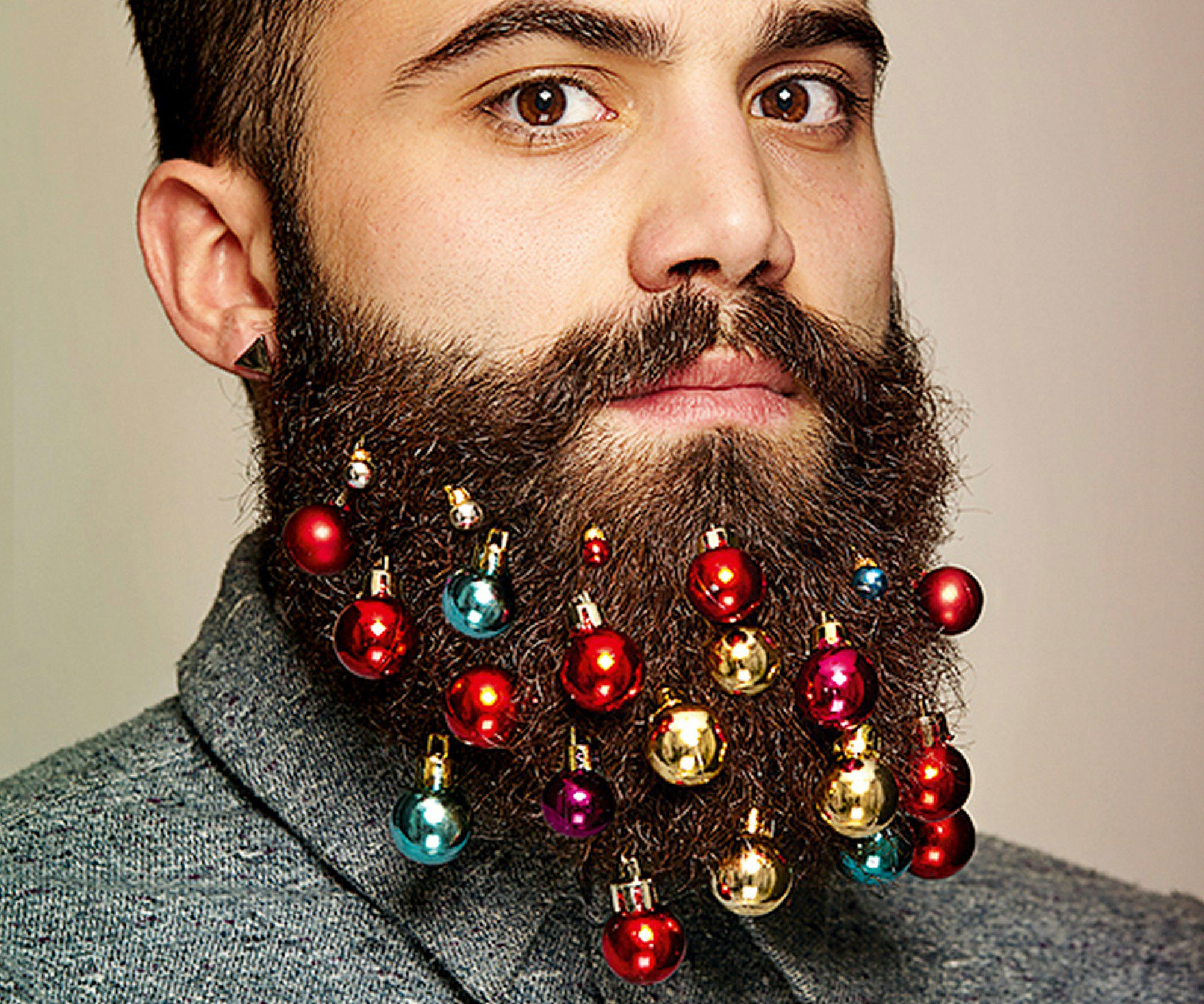 Christmas Beard Decorations Beard Christmas Ornaments