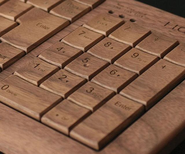 Bamboo Keyboard With Mouse