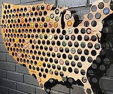 Beer Caps Map