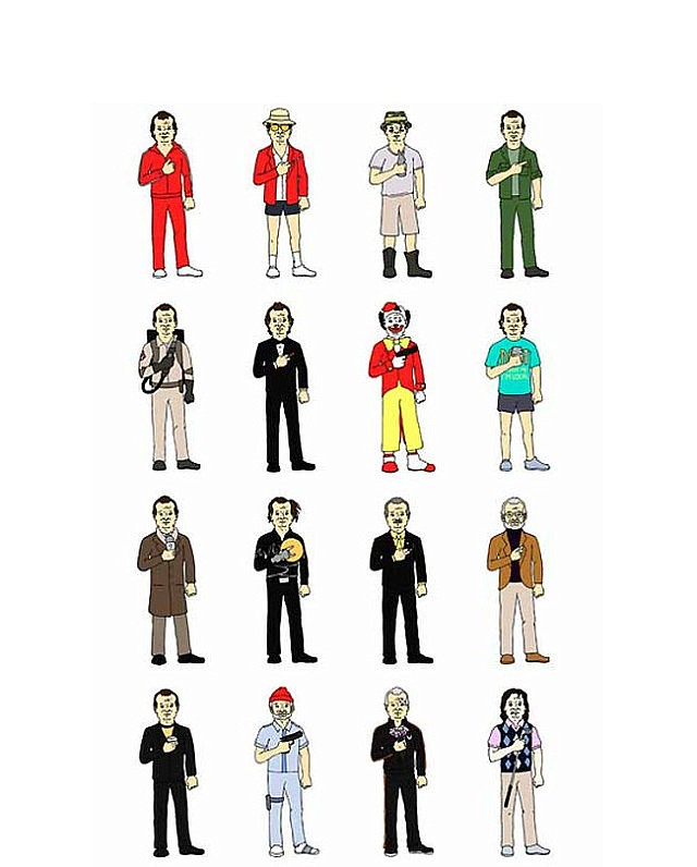The Many Faces of Bill Murray Print