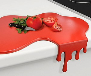 Blood Puddle Cutting Board