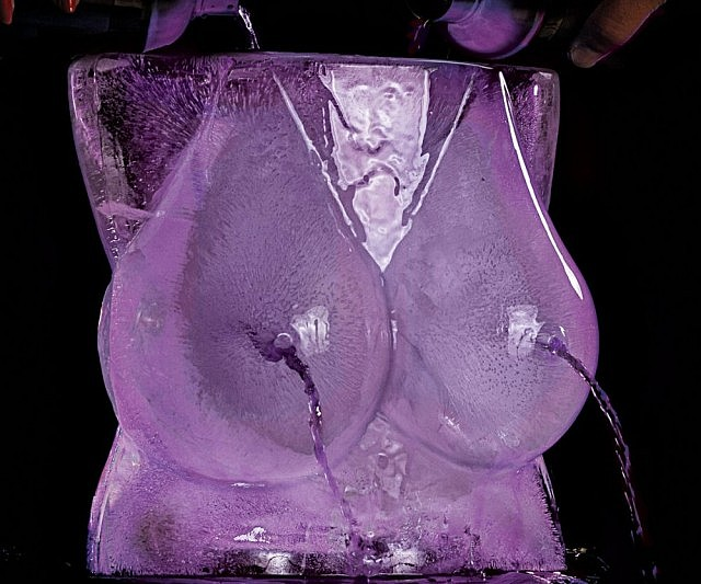 Boobs Ice Luge