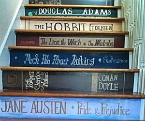 Classic Book Staircase Stickers