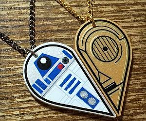R2-D2 C-3PO BFF Necklace