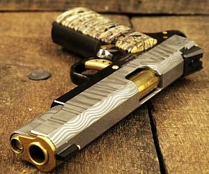 Cabot Damascus 1911 Pistol