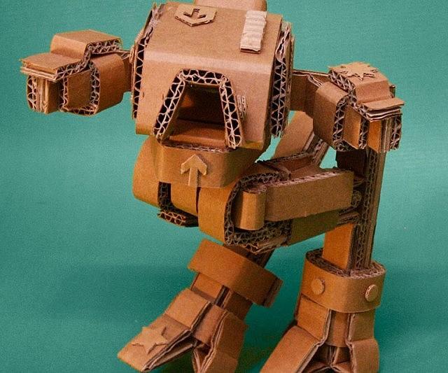Cardboard Articulated Robots