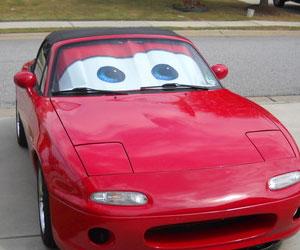 Cars Lightning McQueen Sunshade