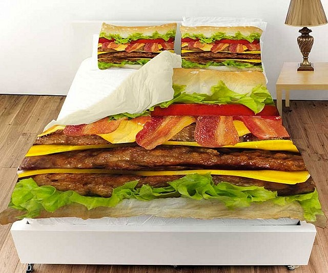 Cheeseburger Bed Set
