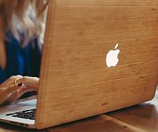 Cherry Wood MacBook Skin