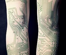 Circuit Board Tattoo Tights