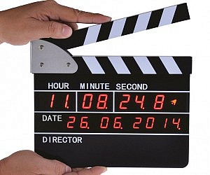 Clapperboard Digital Alarm Clock
