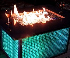 Color Changing Firepit Table
