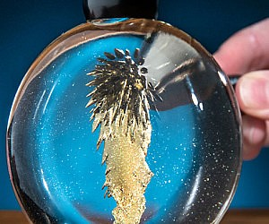 Colorful Magnetic Ferrofluid Sphere