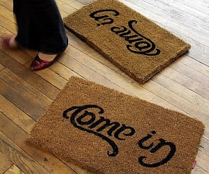 Come In Go Away Door Mat