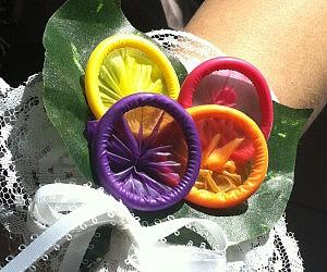 Condom Corsage