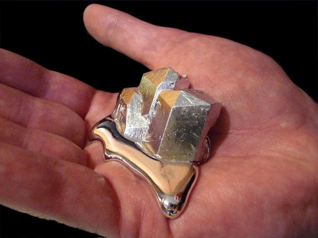 Melting Gallium Metal