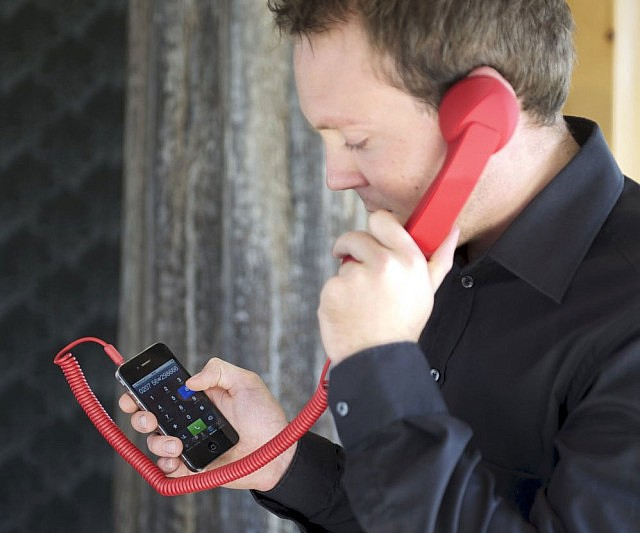 Retro Corded iPhone Handset
