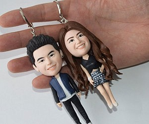 Personalized Couples Keychains