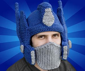 crocheted-optimus-prime-helmet