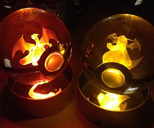 Crystal Engraved Pokeballs