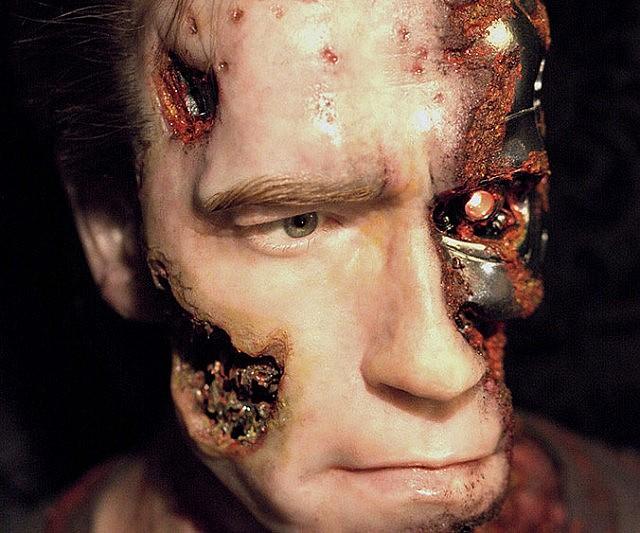 Battle Damaged Terminator Bust Prop