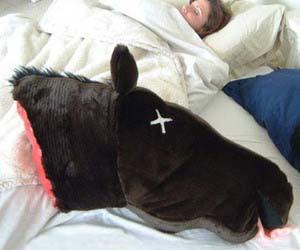 Dead Horse Head Pillow