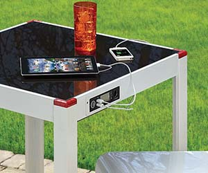 Solar Panel Charging Table
