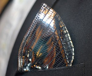 Disco Ball Pocket Square