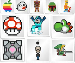 DIY Pixel Art Stickers