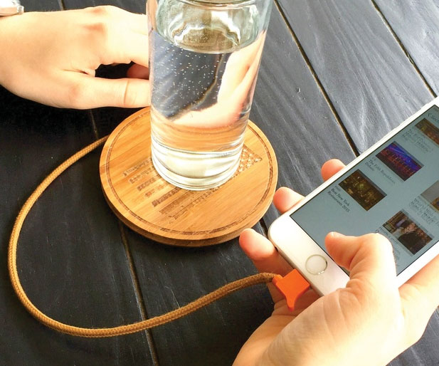 Phone Charging Drink Coaster
