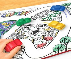 Drive Thru Placemat With Crayons