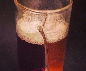 Dual Chamber Beer Glass