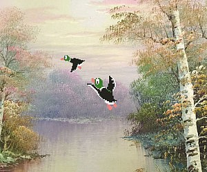 Duck Hunt Repurposed Painting