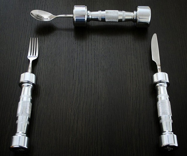 dumbbell-eating-utensils