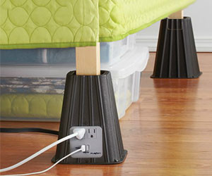 Electrical Outlet Bed Risers