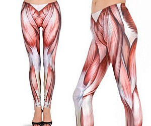 Exposed Muscles Leggings