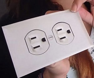 Fake Electric Outlet Sticker