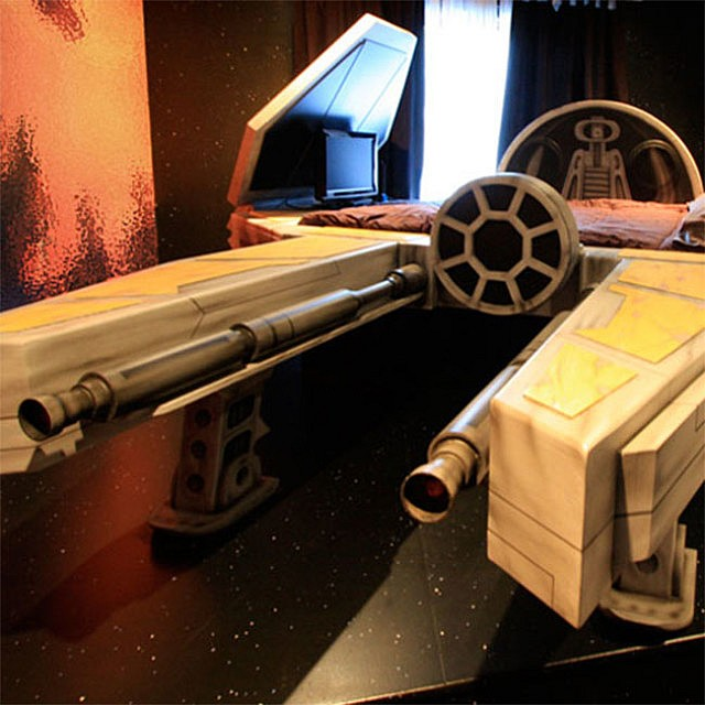 Fighter Spaceship Bed