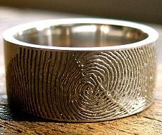 Personalized Fingerprint Wedding Ring