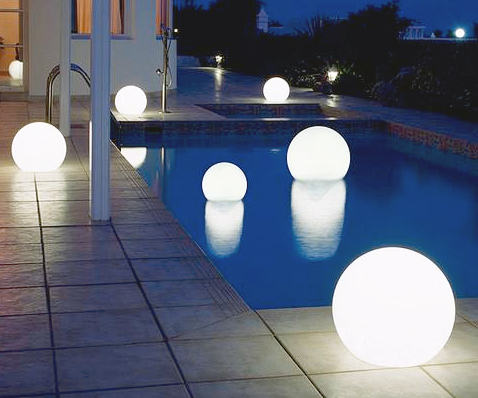 Floating Light Up Globes